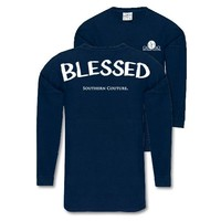 Southern Couture Blessed Jersey Pullover Oversized Long Sleeve T-Shirt