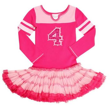 Ooh La La Couture Pink/Hot Pink Varsity Birthday Dress (#1, #2, last ones)
