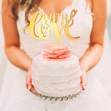 Wedding Cake Topper - With Love (WCT00064)