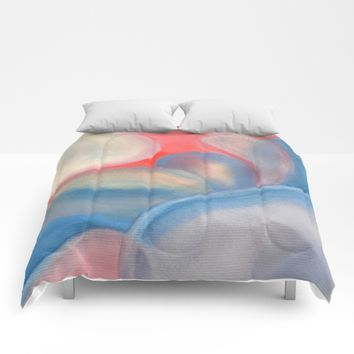 Watercolor Pastel V. G. 02 Comforters by ViviGonzalezArt