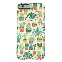 Abstract Cactus Flower Pattern Barely There iPhone 6 Case