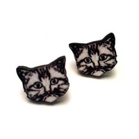 Felix Cat Stud Earrings