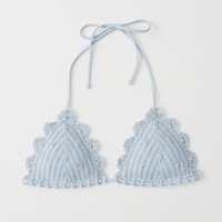 Womens Crochet Triangle Bikini Top | Womens Swimwear | Abercrombie.com