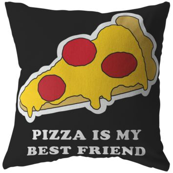 Food is my best friend, Yummy Pizza Pillow