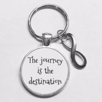 Infinity The Journey Is The Destination Best Friend Sister Graduation Keychain