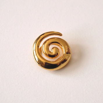 Vintage Scarf Clip, Goldtone Scarf Ring, Spiral Scarf Clip, Scarf Holder, Scarf Accessory, Vintage Scarf Slide, Shawl Clip, Costume Jewelry