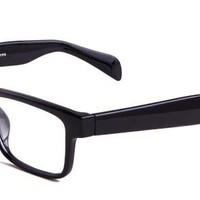 Stacy Eyeglasses with Black Acetate Rectangle Full Frame/Rim Frame