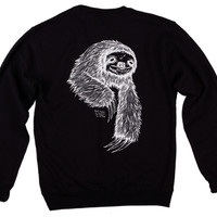 Welcome Skateboards Sloth Crew Fleece - Black - Large