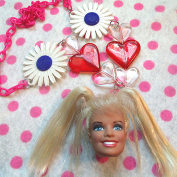 90s Deadbeat Club Spice Girls Barbie Necklace by hobbittownjewelry