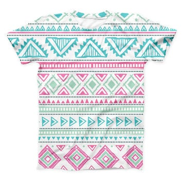 The Doodle Aztec Pattern ink-Fuzed Unisex All Over Full-Printed Fitted Tee Shirt