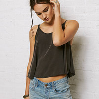 Don't Ask Why Swingy Crop Cami, Black