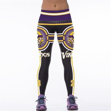Adventure Time 3D Printed Women Fitness Legging American Footballs NFL Minnesota Vikings Gymnasium Workout Leggings Leggins
