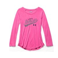 Under Armour Girls' UA Impulse Charged Cotton Tri-Blend Script Long Sleeve