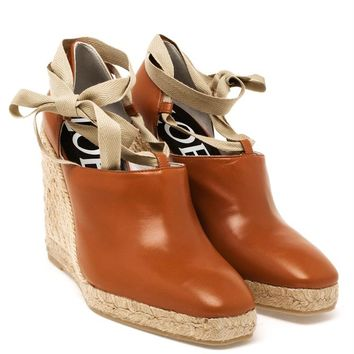 LOEWE | Ribbon Wedge Espadrille | brownsfashion.com | The Finest Edit of Luxury Fashion | Clothes, Shoes, Bags and Accessories for Men & Women