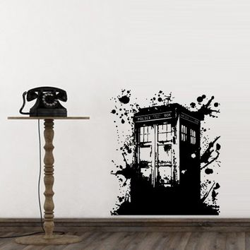 wall decal doctor who tardis mural from amazon wall decal