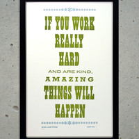 Good Work Letterpress Art Print