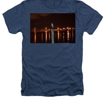 Blue Heron Night - Heathers T-Shirt