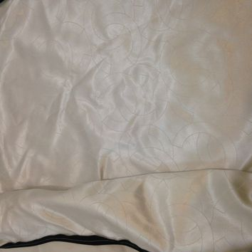 "CHANEL White Cotton with CC Silk Inner Garment Cover Bag 78""x24""x3,5"""