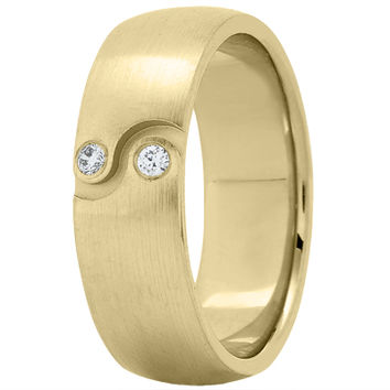 Wedding Band - Ying Yang Diamond Yellow Wedding Band