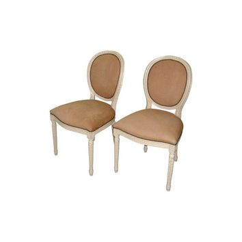 Pre-owned Louis XVI Side Chairs - Set of 2