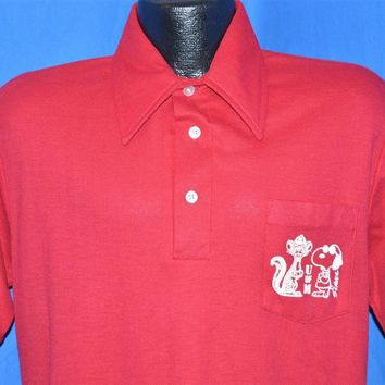 70s Minnesota Golden Gophers Snoopy Polo Shirt Medium