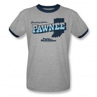 Parks and Recreation Greetings from Pawnee Ringer T-Shirt