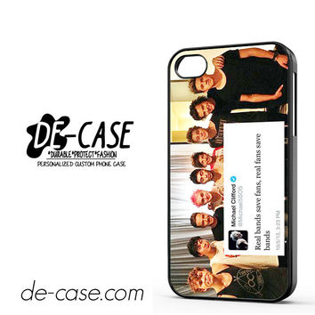 5sos And One Direction Fan Twit For Iphone 4 Iphone 4S Case Phone Case Gift Present