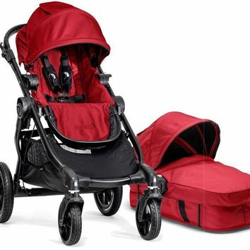 Baby Jogger City Select Stroller Red with Bassinet Pram System Travel NEW 2017