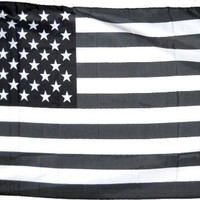 American Protest Flag, Black & White banner, 3'x5'