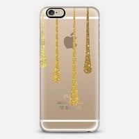 Gold Paint Drips iPhone 6 case by Kathrin Legg | Casetify