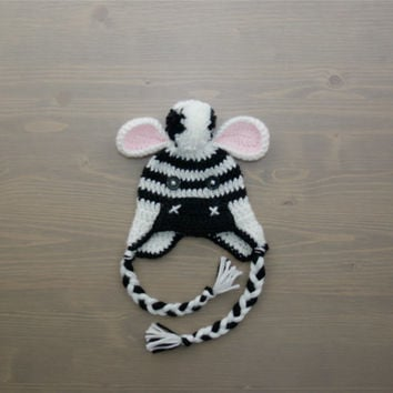 Crochet Zebra Hat, Crochet Baby Hat, Newborn Photo Prop, Crocheted Baby Hat, Baby Shower Gift, Baby Zebra Hat, Crochet Animal Hat