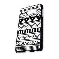 Black White Aztec  Samsung Galaxy S6 Case