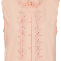 Cotton Embroidered Shirt - Pining For Pink - We Love - Topshop USA