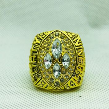 Drop shipping High Quality alloy 1989 San Francisco The 49ers Championship Rings set With Wooden BOX
