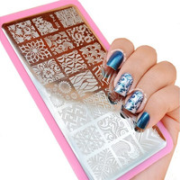 Wave & Texture Patterns Nail Art Stamp Template Image Plate BORN PRETTY BP-L005 12.5 x 6.5cm