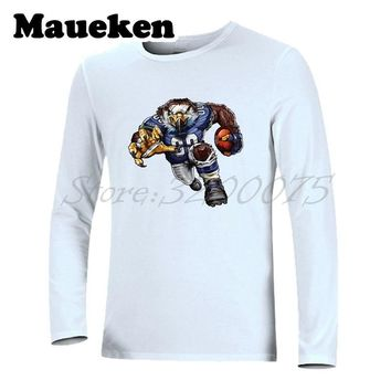 d3f5a79fbbdf Men Long Sleeve Strong Sinister Seahawk Autumn Winter T-Shirt Cl