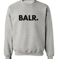 Thick BALR men 's two large cotton round neck sweater