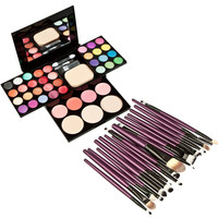 Maquiagem 20pcs Eye Makeup Brush+1pcs with Color Concealer Foundation Cream Makeup Set