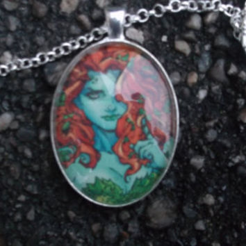 Poison Ivy Necklace, batman necklace,Geekery jewellry, superhero necklace,superhero jewellry