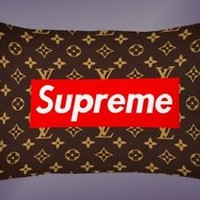 Top Luxury Supreme Brown Pattern Best Pillow Case 16 x 24 20 x 26 2 Side Cover