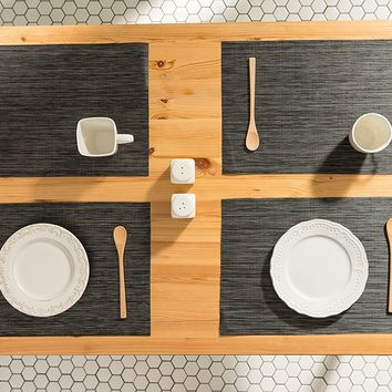 Cement Gray Woven Table Placemats