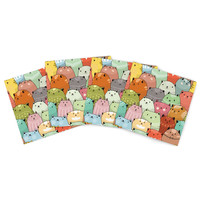 """Snap Studio """"Kitty Attack"""" Cat Illustration Indoor/Outdoor Place Mat (Set of 4)"""