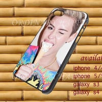 Miley Cyrus Design iPhone 4/4s/5/5S/5C, Samsung Galaxy S3/S4 Case