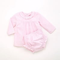 Girls Bengal Stripe Dress And Bloomers