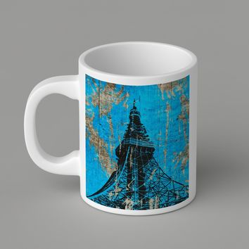 Gift Mugs | Classic Blue Wood Eiffel Tower Paris Ceramic Coffee Mugs