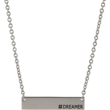 Hashtag Bar Necklace, Dreamer