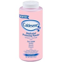 Caldesene Medicated Protecting Powder with Zinc Oxide & Cornstarch, 5 oz (Pack of 2)