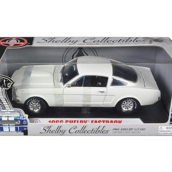 1966 Ford Shelby Mustang GT 350 Fastback White 1-18 Diecast Model Car by Shelby Collectibles