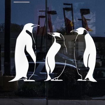 Window Sign and Wall Stickers Vinyl Decal Penguin Winter Animal Great Bathroom Decor Unique Gift (ig872w)