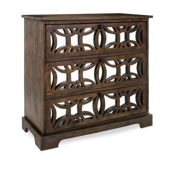 Mirrored and Wood Nightstand